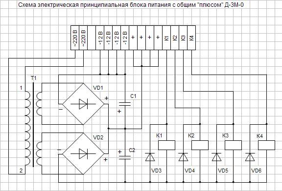 Схема электрическая квп